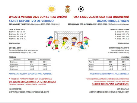 Stage Deportivo de verano del Real Unión