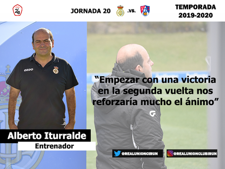 Jornada 20. Rueda de prensa previa de Alberto Iturralde