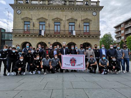 El Real Unión, recibido en el Ayuntamiento de Irun