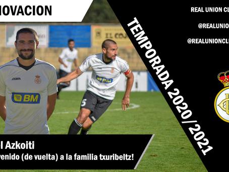 Mikel Azkoiti renueva con el Real Unión