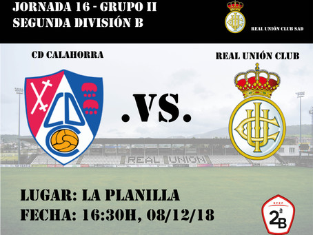 JORNADA 16: CD Calahorra - Real Unión Club