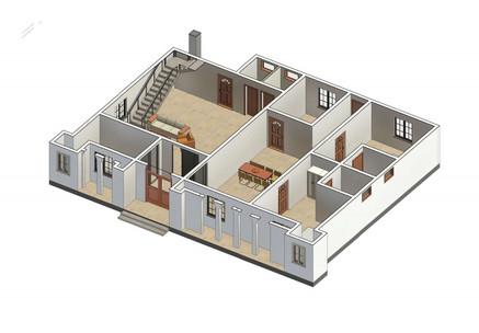 Ground Floor 3D Elevation