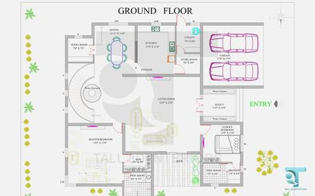 Ground Floor 2D Elevation