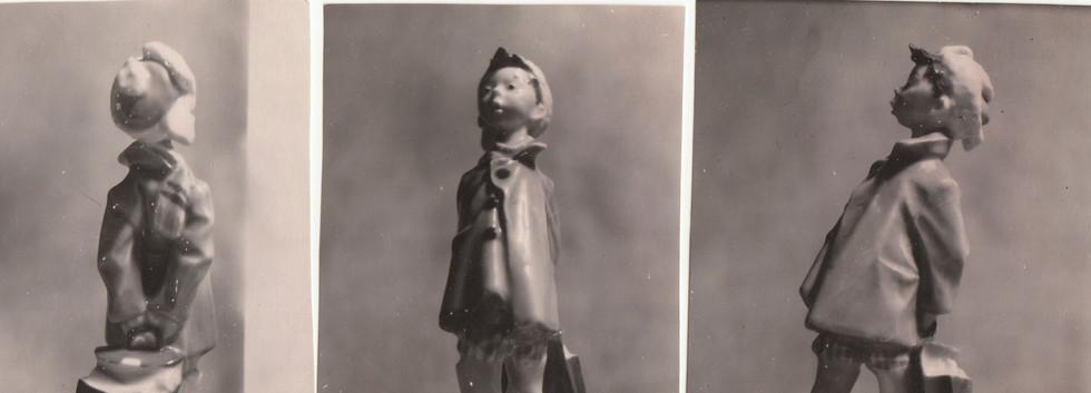 Влас-лоботряс, фарфор роспись 1956 год.j