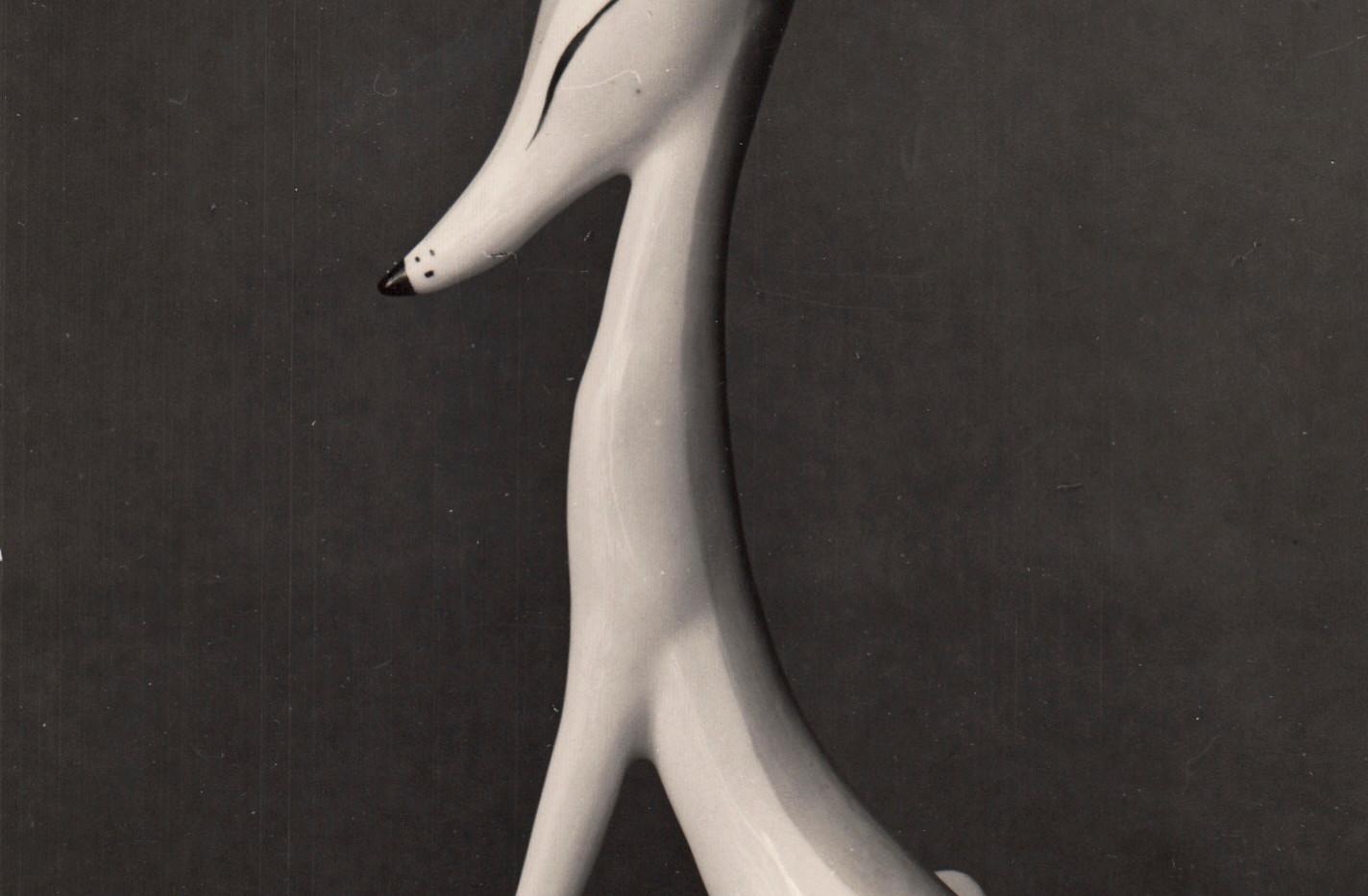 «Лиса», 1968. Авторская надглазурная роспись.