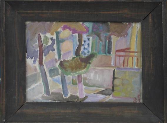 Перед окном, холст, масло 1982