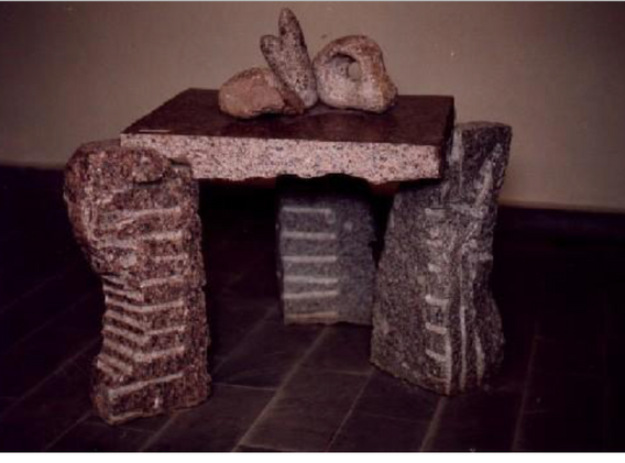 Стол, гранит, 1992