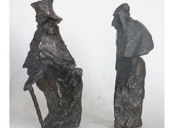 Пушкин и Гоголь  1993 год. 17 см,16 см