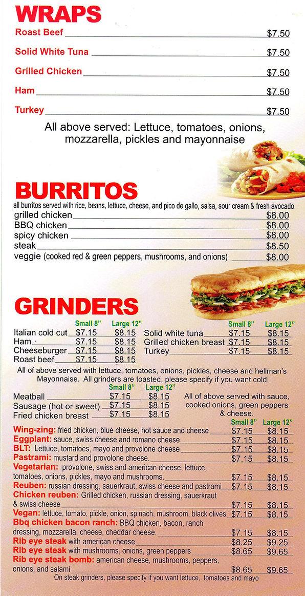 wraps and burritos