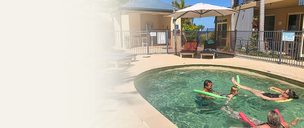 Solar Heated Pool at Beachside Holiday Apartments