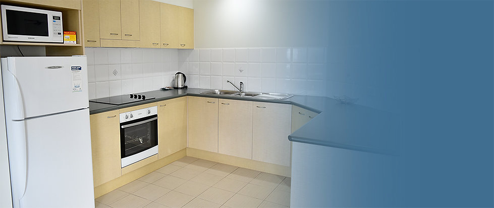 Fully Equipped Kitchen at Beachside Holiday Apartments