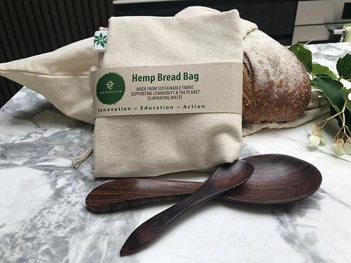 Hemp/cotton bread bag
