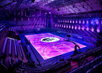 Motion Tracking LED Basketball Court