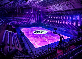 Motion Tracking LED Basketball Court