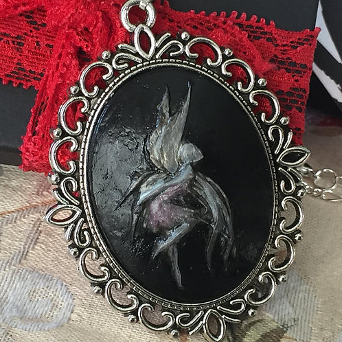 Gothic Fairy Cameo Necklace