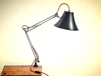 Lamps Made Out of Repurposed Vinyl.