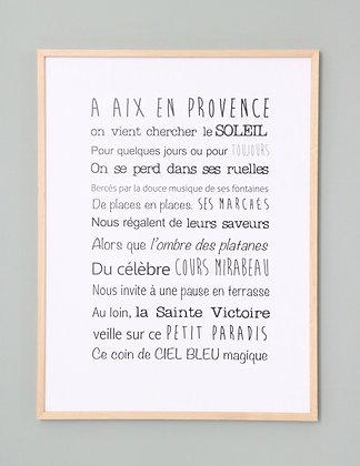 Affiche Exclusive Aix en Provence