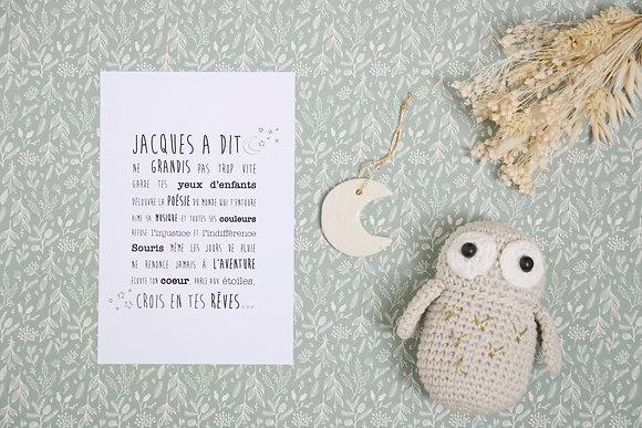 Carte Postale Jacques A Dit