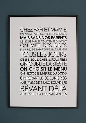 Affiche Exclusive Chez Papi et Mamie