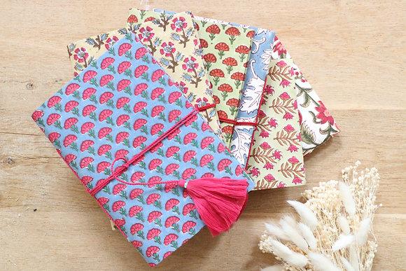 Carnet Tissu Indien