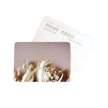 Carte Postale Merci Doré Brindille