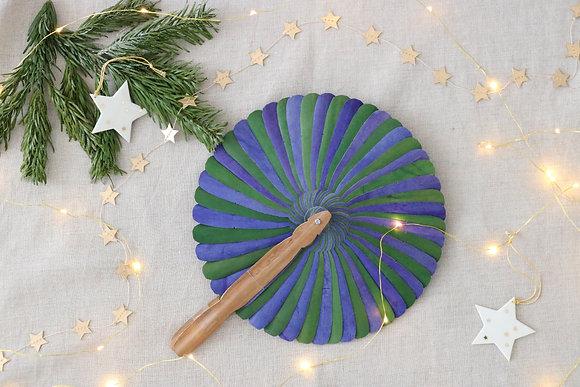 Eventail Tourbillon Vert et Bleu
