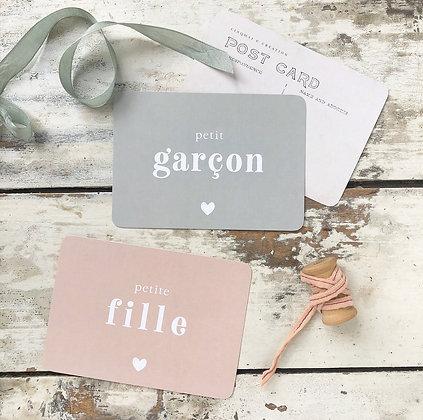 Carte Postale Petit Garçon Petite Fille