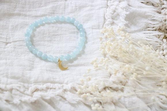 Bracelet Lune Aquamarine