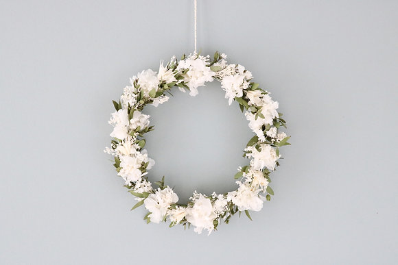 Petite Couronne Hortensia Blanc