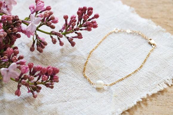 Bracelet Plaqué Or Perle d'eau douce