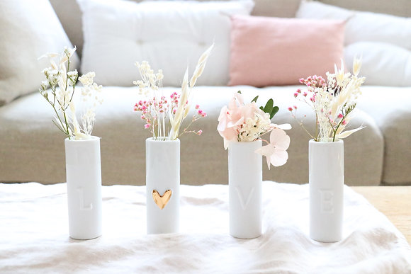 Set de 4 vases LOVE