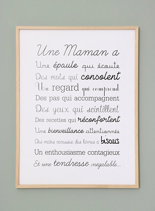 Affiche Exclusive Une Maman
