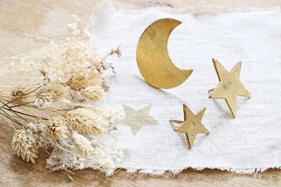 Clou Doré Etoile ou Lune