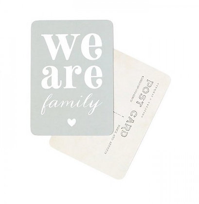 Carte Postale We are Family
