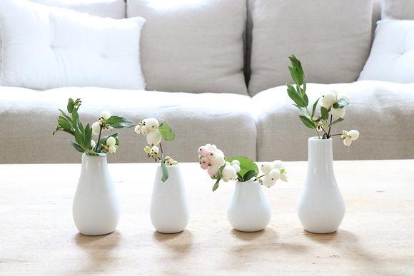 Série de 4 petits vases