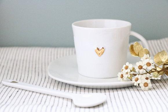 Tasse à Café Coeur doré