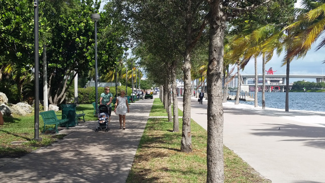 After | The Baywalk in 2017 looking North
