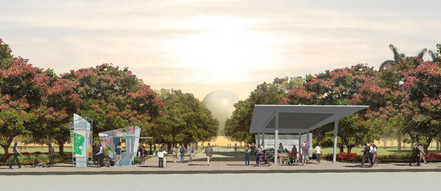 Rendering of Flager Street Entrance to the Park