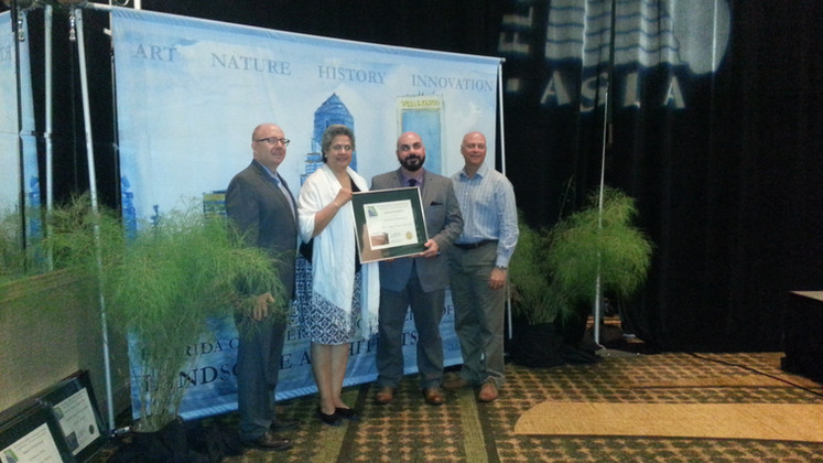 From Left : Jonathan Haigh (FLASLA President), Aida Curtis, Ralph Ferrer, Chad Danos (ASLA President)