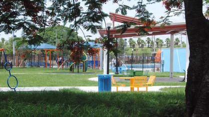 Playground and Band Shelter