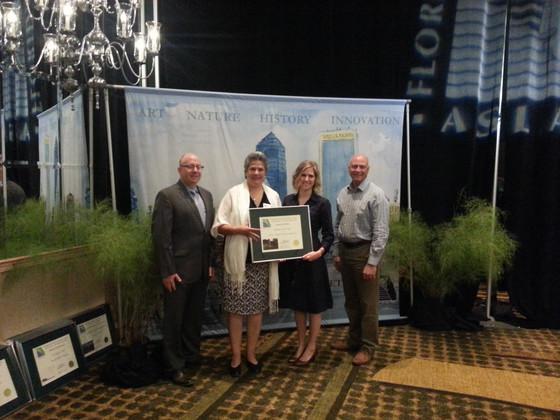 From Left : Jonathan Haigh (FLASLA President), Aida Curtis, TJ Marston, Chad Danos (ASLA President)