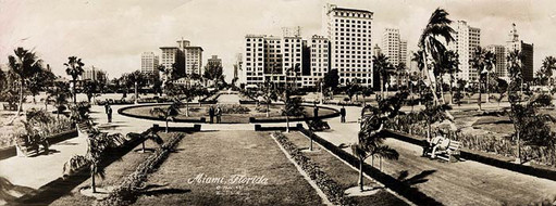 Historic image of Bayfront Park from 1925
