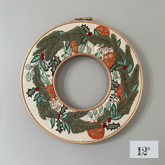 """Embroidery Wreath 12"""""""