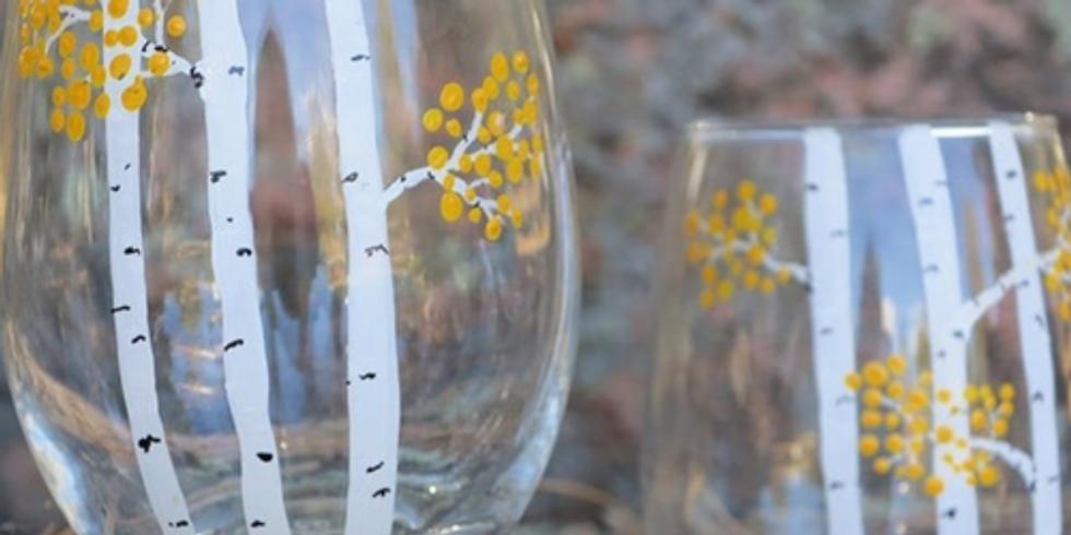 CAS + Wellness Art Night: Virtual Wine Glass Painting