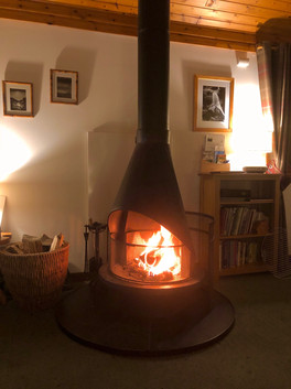 Fabulous log fire