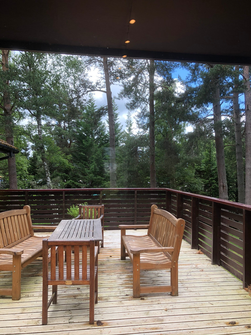 View from Kitchen Window onto the Deck