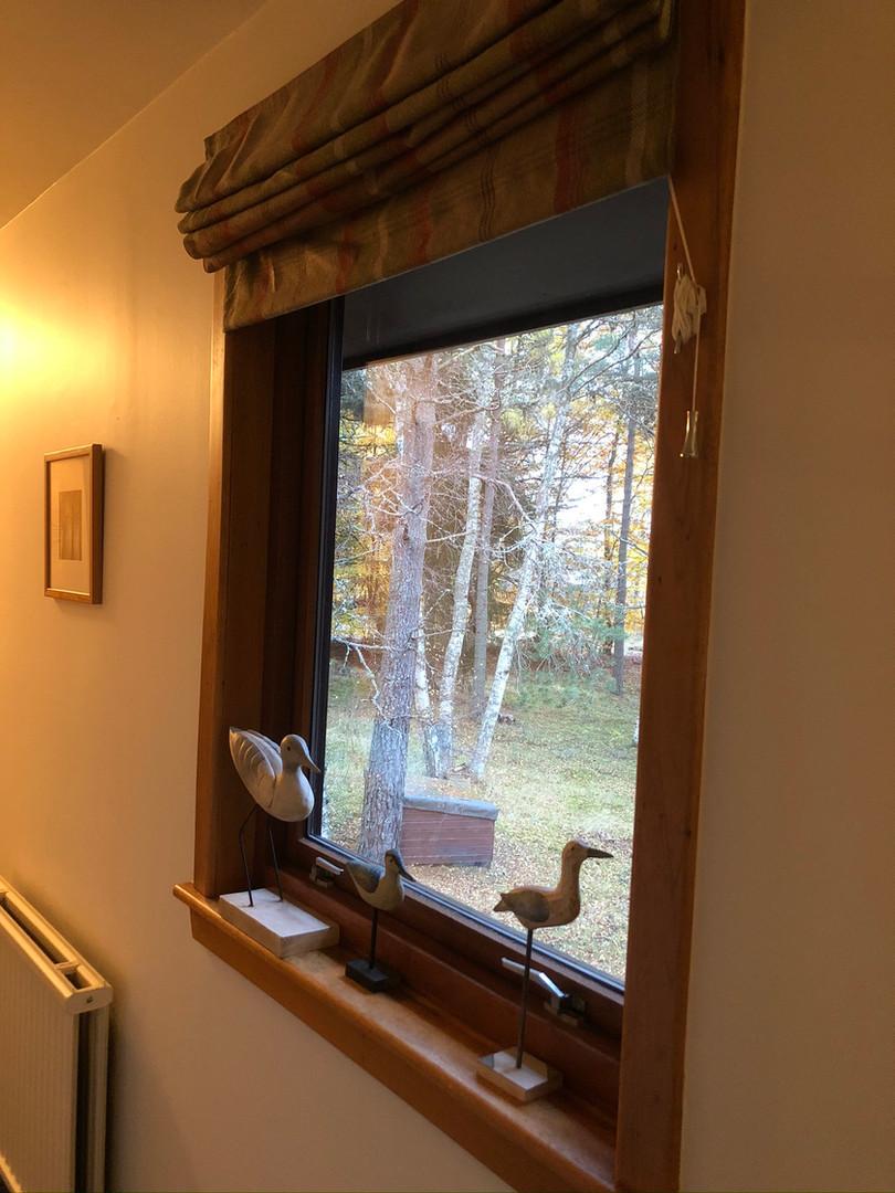 Hall window overlooking garden