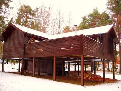 Treehouse in winter