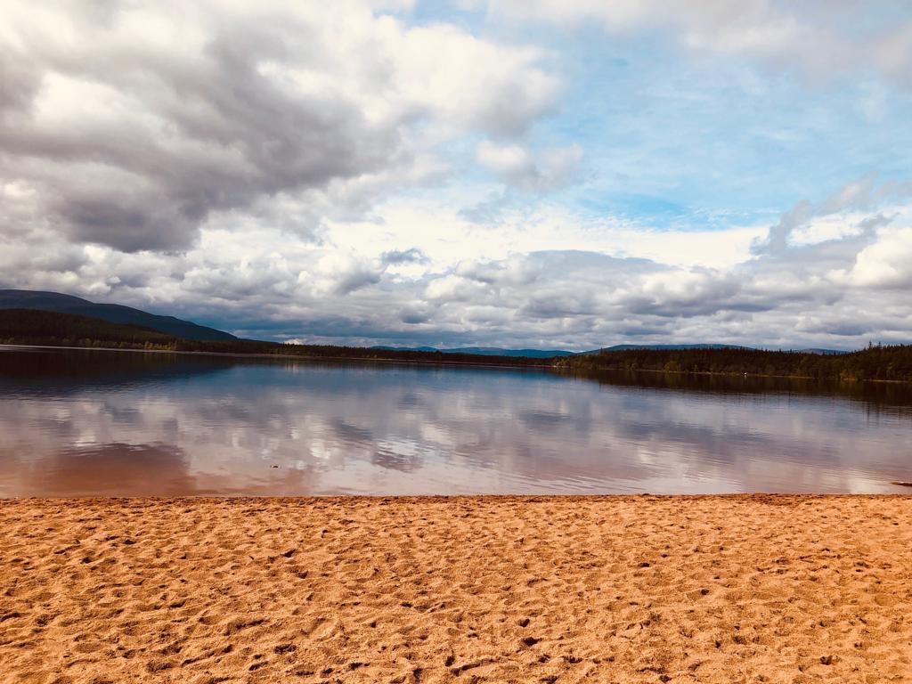 The beach at Loch Morlich