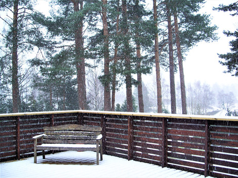 The deck in winter